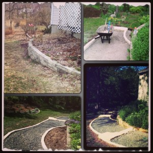 four outdoor pathway designs